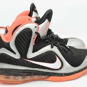 watch eac09 a5c5b Nike Shoes - Nike Lebron 9 Bright Mango Metallic Silver Size 9